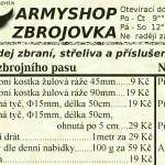 Letáček Armyshopu