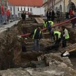 Dolní náměstí - vykopávky