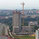 Centrum inovací a VŠ Kampus - jádro - stavba