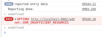insufficient resources, moc současných spojení
